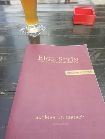 Eigelstein: English menu