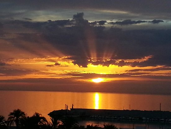 Hotel-Apartamentos PYR-Fuengirola : The view of the sunrise from the balcony