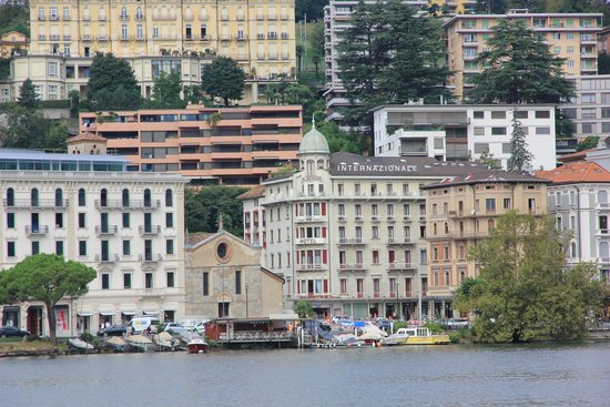 Hotel International au Lac: Hotel from Lake Lugano