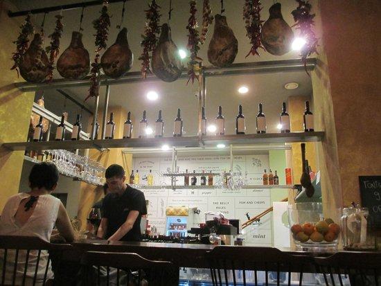 Bokeria Kitchen & Wine Bar: serving area