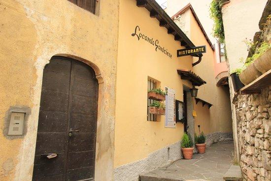 Locanda Gandriese Restaurant : Entrance to restaurant