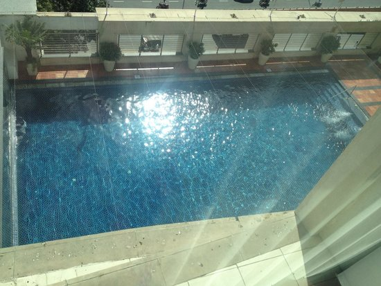 Four Points by Sheraton Jaipur, City Square: The view of pool from room 7723