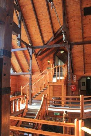 Knysna Log-Inn Hotel: Urige Holzkonstruktion