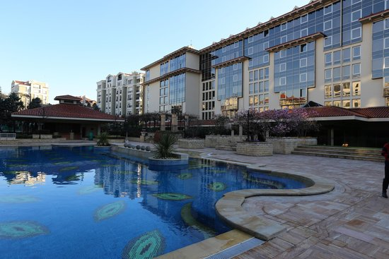 Grand Hyatt Istanbul : View of hotel from the pool