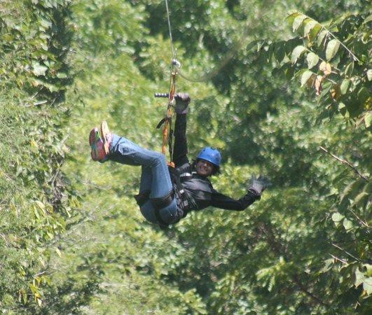 Foxfire Mountain Adventures: ziplining the goliath