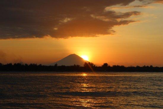 Sasak Cafe: Sonnenuntergang