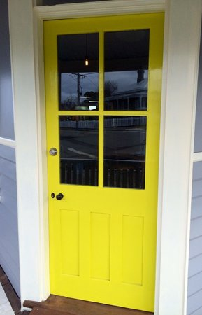 "Vancouver Street Cafe: Enter through the ""yellow"" corner door"