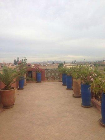 Riad Pachavana: roof teraace