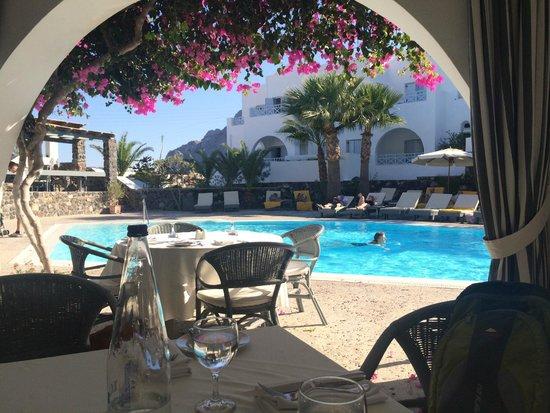 Santorini Kastelli Resort: Restaurant