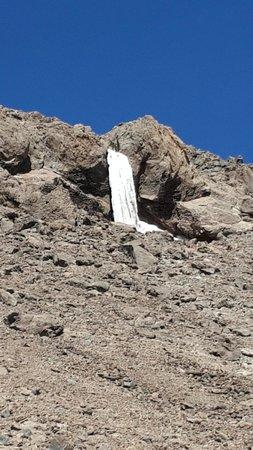 Damavand Mountain: frozen waterfall at 5100m