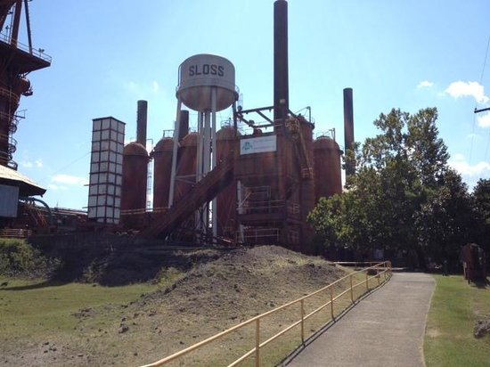 Sloss Furnaces National Historic Landmark: Sloss Furnace view on tour