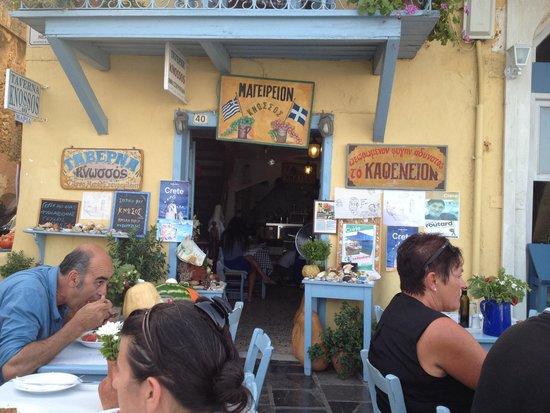 Taverna Knossos: Taverna entrance