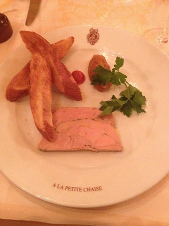La Petite Chaise: Duck Foie Gras with Apple Chutney Starter