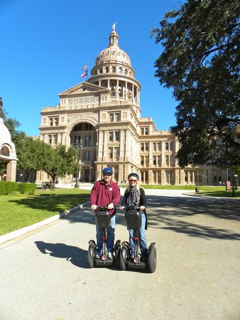 Segway Nation: In front of the Texas State Capitol.