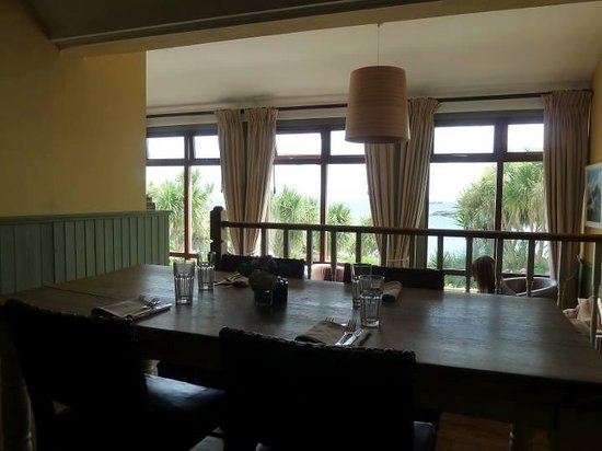 The Old Coastguard Hotel Restaurant: view to the coast