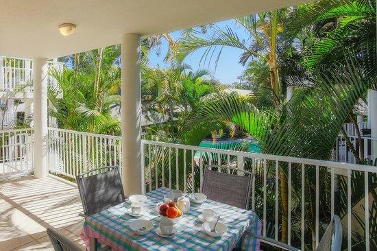South Pacific Resort Noosa: The north facing verandah