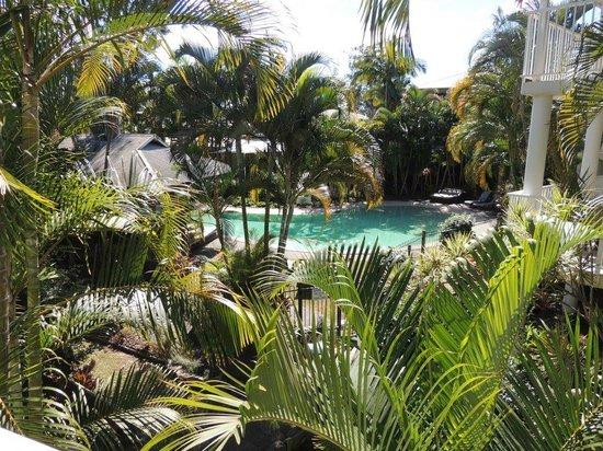 South Pacific Resort Noosa: View from Verandah overlooking heated