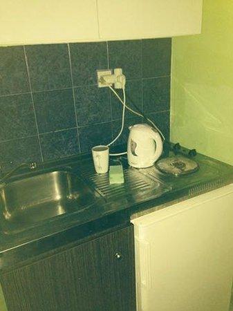 Haroula Apartments: kitchen area