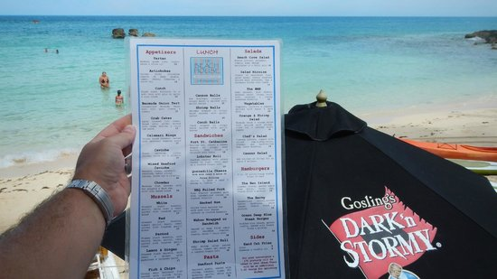 The Beach House at Blackbeard's: The Beach House menu