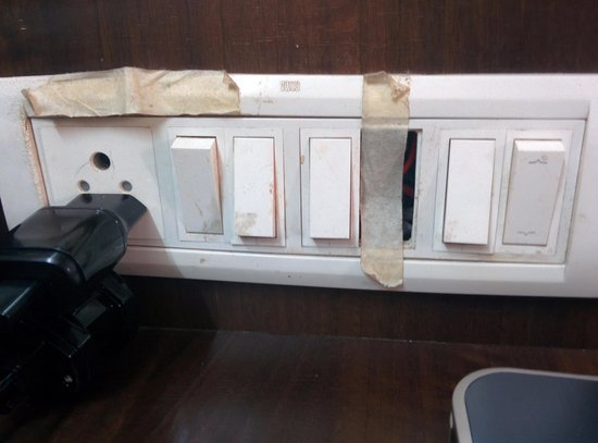 Sai Moreshwar Resort : damaged switch board