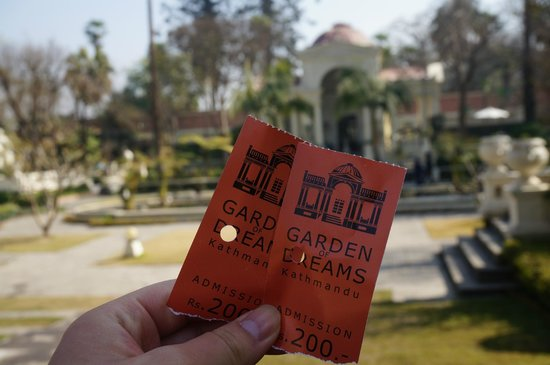 Garden of Dreams : the tickets
