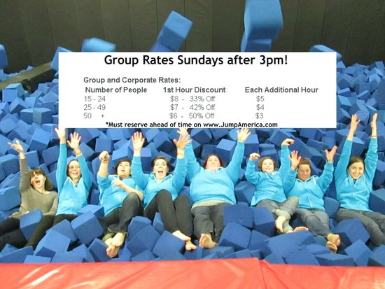 Jump America: Group Rates