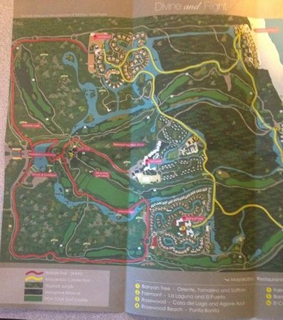 Mayakoba Map Of All 3 Resorts Rosewood Is At The Top Picture Of