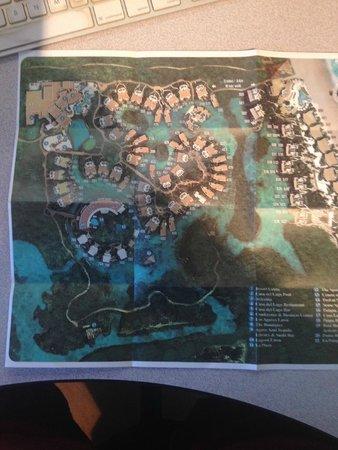 Rosewood Mayakoba : Rosewood map