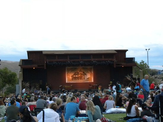 Super Summer Theatre: The stage and meadow seating area