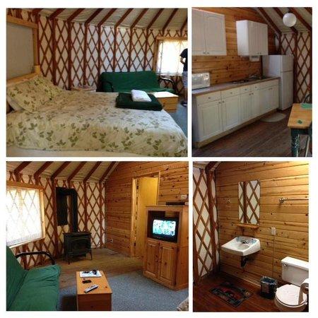 Yosemite Lakes RV Resort : Inside of Yurt