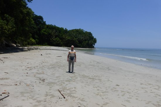 Dorsett Grand Labuan: Idid a lot of running when I was in Labuan and this is me standing on a beach I regularly ran on