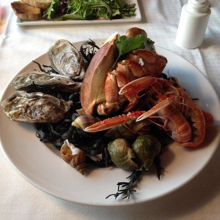 La Brasserie du Sillon: Mariscos surtidos