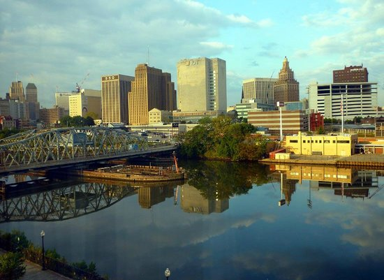 downtown newark viewed from the hotel picture of hampton. Black Bedroom Furniture Sets. Home Design Ideas