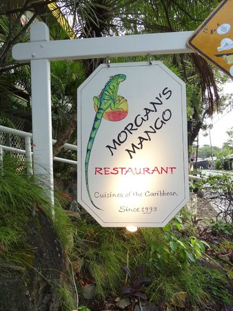 Morgan's Mango: Entrance sign!
