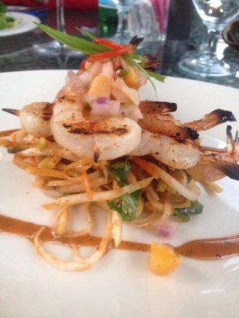 Mirabeau Park Hotel: Chipotle Shrimp Appetizer... Absolutely delicious!