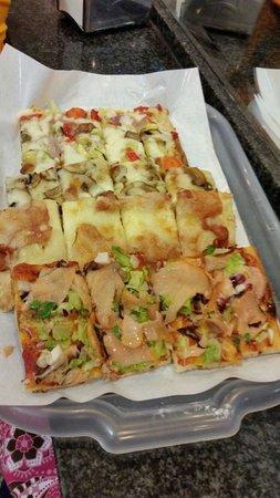 Pizzeria Italia dal 1987: From top:  Vegetarian  Porcini mushroom Ham(prosciutto) Salmon (get rid of the face you are