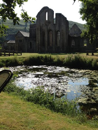 Valle Crucis Abbey: view from the fish pond