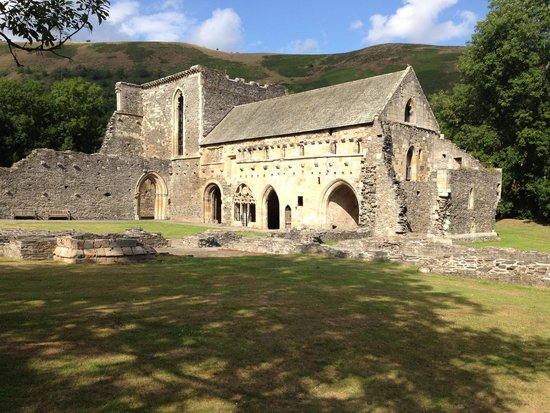 Valle Crucis Abbey: round the cloisters