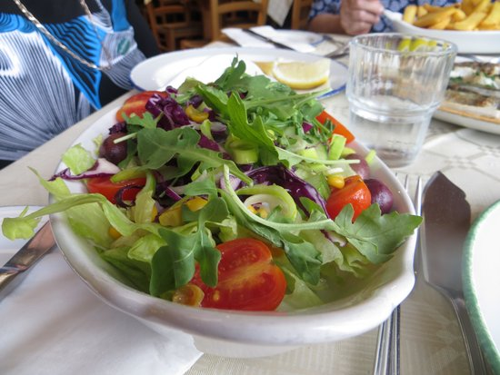 Ron's Restaurant: With great salad