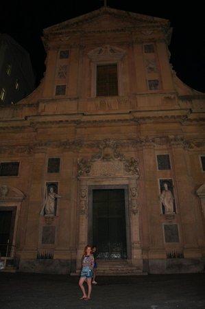 Chiesa del Gesu e dei Santi Ambrogio e Andrea : Вечерний вид