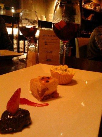 Restaurante Ferro: Selección de postres. El mejor, tartaleta de guanábana con whisky.