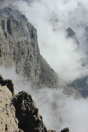 Arusha National Park: The East Face of Meru rom above
