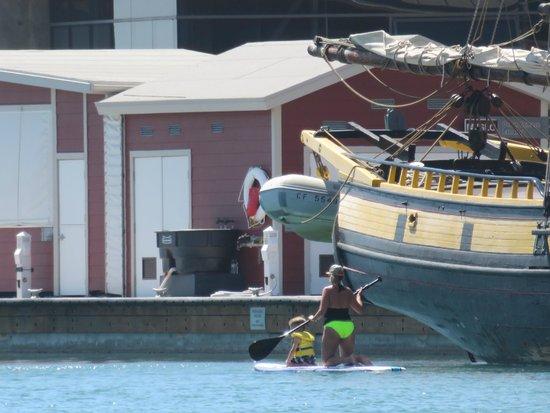 Dana Point, Californien: The pirate ship is a big lure