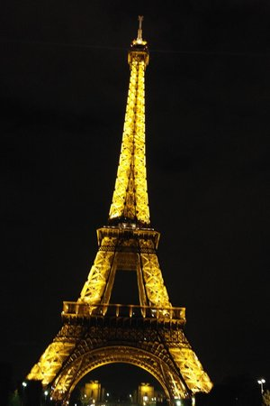 Paris Authentic: Eiffel Tower at night during the tour