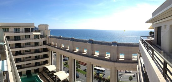 Hyatt Regency Nice Palais de la Mediterranee: Panoramic shot from our balcony - Room 925