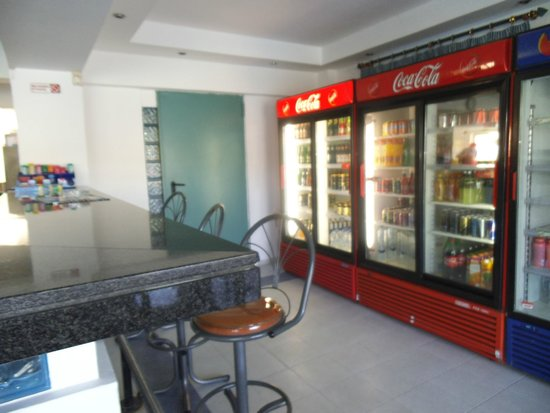 Rodos Sun: The huge supply of drinks *alcoholic and non* and ice cream - water all 1E in big bottles