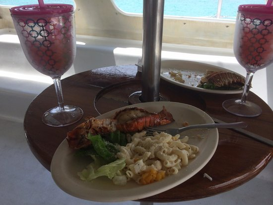 Catamaya Sailing Cruises: Wonderful grilled lobster lunch