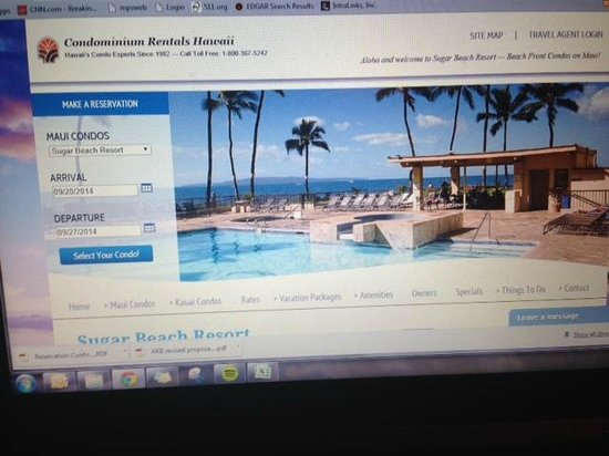 Sugar Beach Resort: If you hit the reserve button here you won't see any disclosure - you have to scroll down.