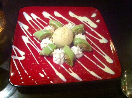 Anong Thai: Pandan Pancake with young cocunut served with ice cream