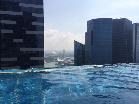 The Westin Singapore: view from the infiniti pool on level 35